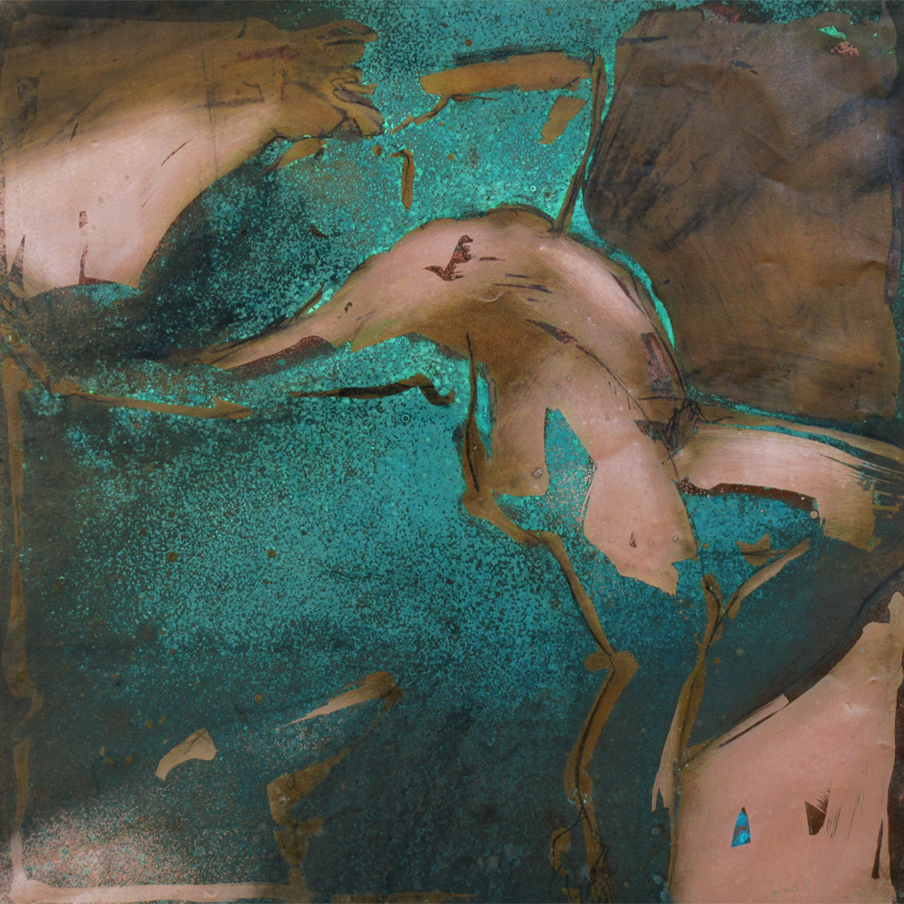 oxidized copper painting