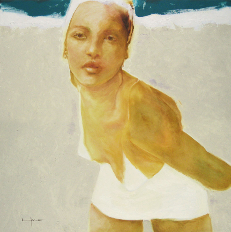 "<br><font size=""4"" style=""font-family:verdana; color:white;"">'Swimmer' • 30x30 inches • GICLEE AVAILABLE - Call</font>"
